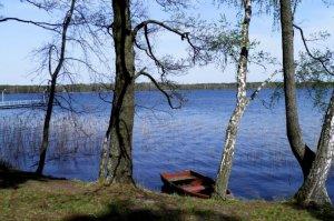 Рыбалка на озере в заповеднике