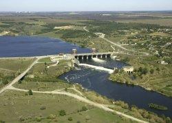 Река Южный Буг ниже Александровской ГЭС в Николаевской области-1