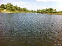 Рыбалка на водоёме Штаны в с. Граково Харьковской области