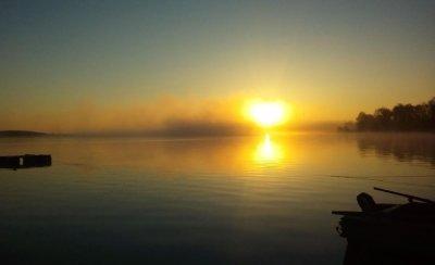 Рыбалка на Николаевском водохранилище в с. Новогнатовка Донецкой области-1