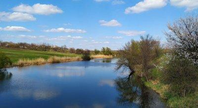 Рыбалка на пруду Заря Днепропетровской области-1