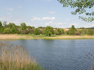 Рыбалка у села Волчье в Донецкой области-1