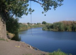 Рыбалка у села Степановка в Запорожской области-1