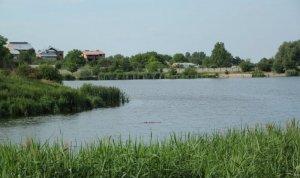Озеро в Лисиничах Львовской области