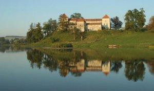 Озеро в поселке Свирж Львовской области