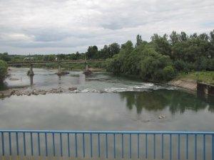 Река Стрый в Жидачове Львовской области