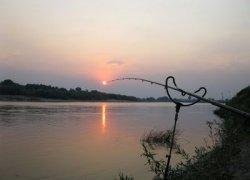 Рыбалка у села Дыбинцы в Киевской области-1