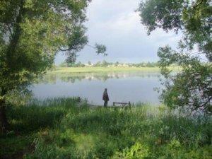 Рыбалка на озере в с. Розважев Киевской области-1