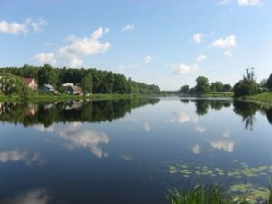 Рыбалка на речке в с. Осещина Киевской области-1