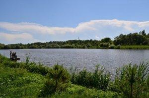 Рыбалка в Поршне слева во Львовской области