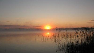Рыбалка у села Черемошно в Волынской области