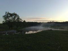 Рыбалка на речке Замчисько у села Борщовка в Ровенской области-1