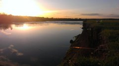 Рыбалка у села Быстричи в Ровенской области-1